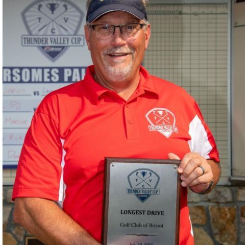 WCYB's Rick Hensley claimed the Longest Drive award.