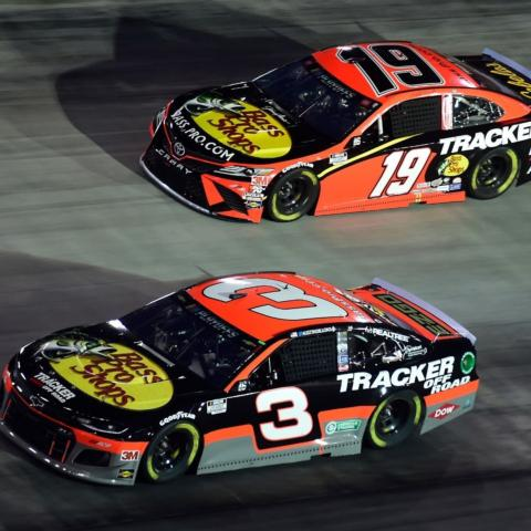 Austin Dillon (3) and Martin Truex Jr. (19) will be going for a Playoff victory on Bristol Motor Speedway's concrete track during the Bass Pro Shops NRA Night Race, Sept. 18.
