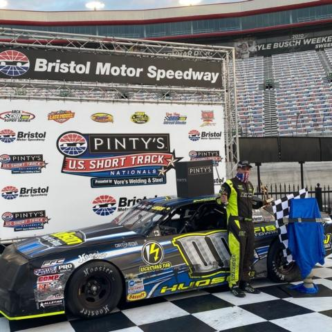 Brett Hudson earned the Street Stocks division win.